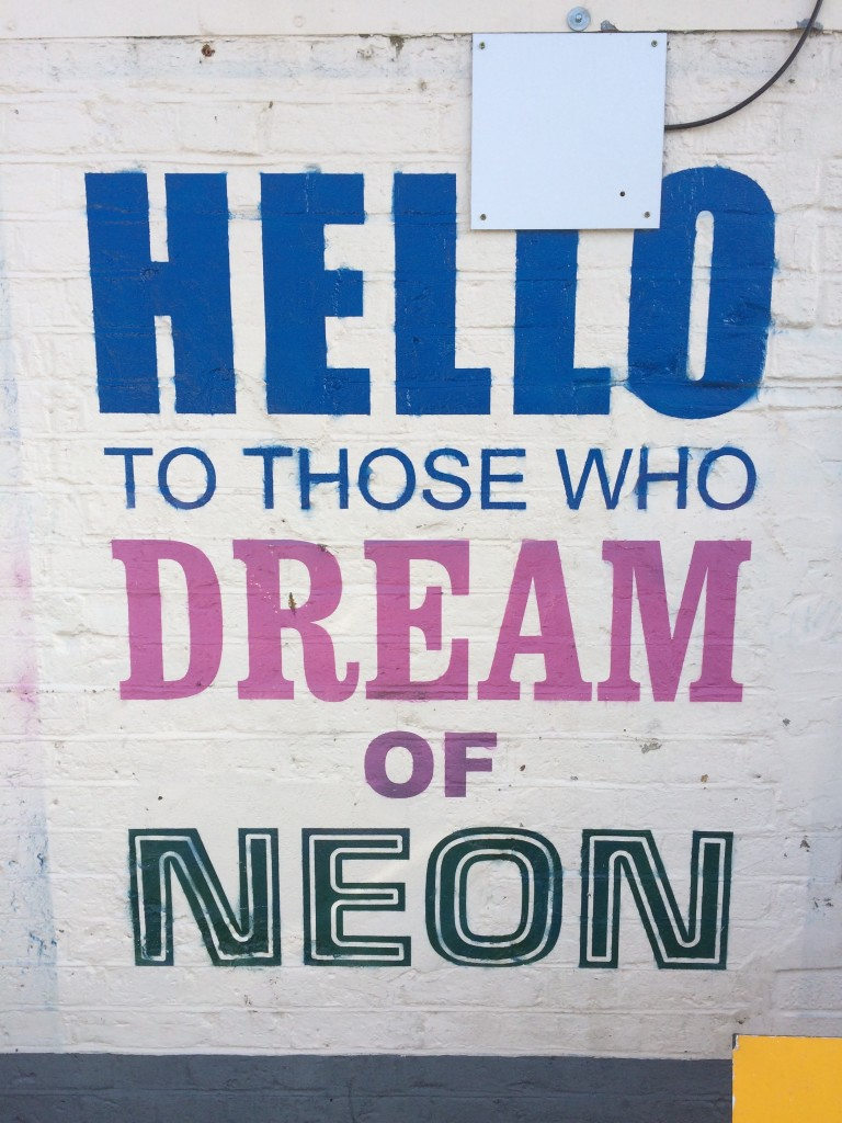 Hello to those who dream of neon